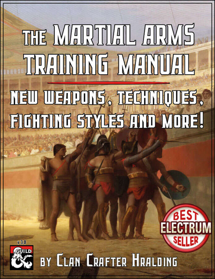Martial Arms Training Manual - Dungeon Masters Guild
