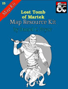 DM Notes & Maps for Lost Tomb of Martek Maps (I5)