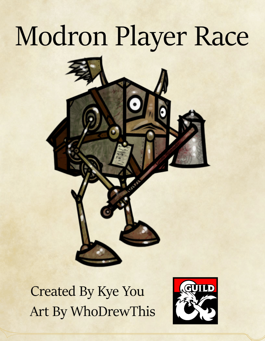 Modron Player Race Dungeon Masters Guild Dungeon