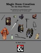 Magic Item Creation Guide (5e)