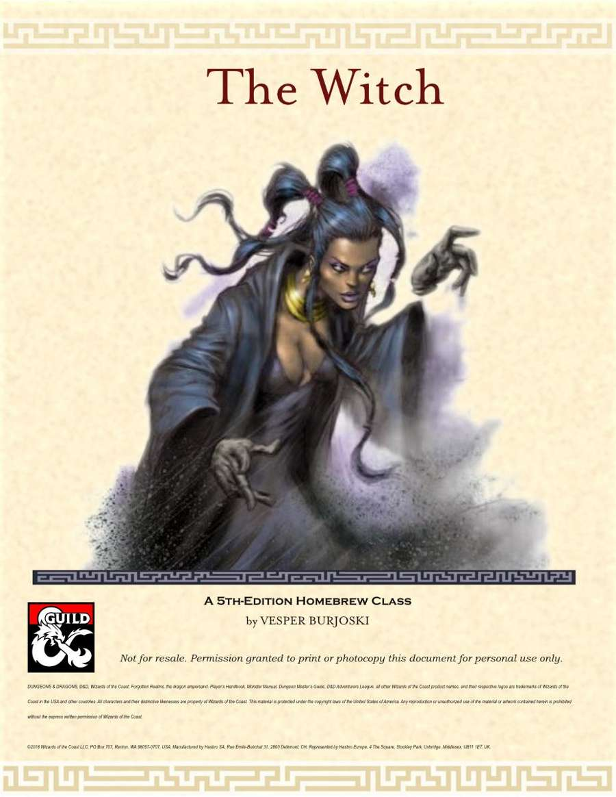 The Witch: 5e Class - Dungeon Masters Guild | Dungeon Masters Guild