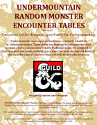 Undermountain Random Encounter Tables & Rumors