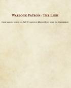 5E D&D Class - Warlock, The Lich