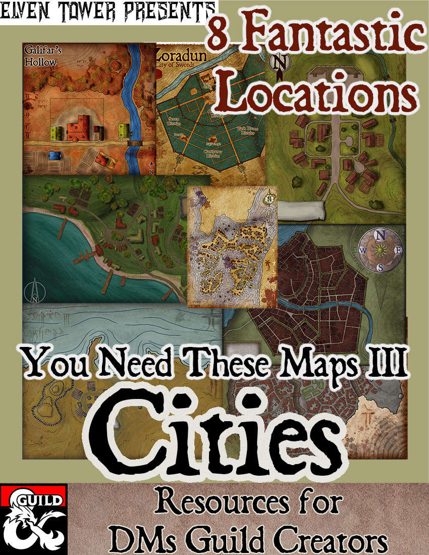 The Sword Coast - Forgotten Realms Stock Maps - Dungeon Masters