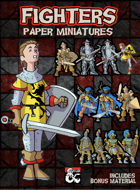 5e Fighters - Paper Miniatures
