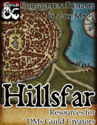 Hillsfar - Forgotten Realms Stock Maps