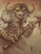 Stock art - Minotaur sketch
