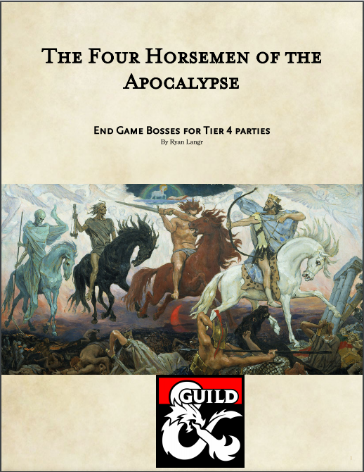 The Four Horsemen of the Apocalypse - Dungeon Masters Guild