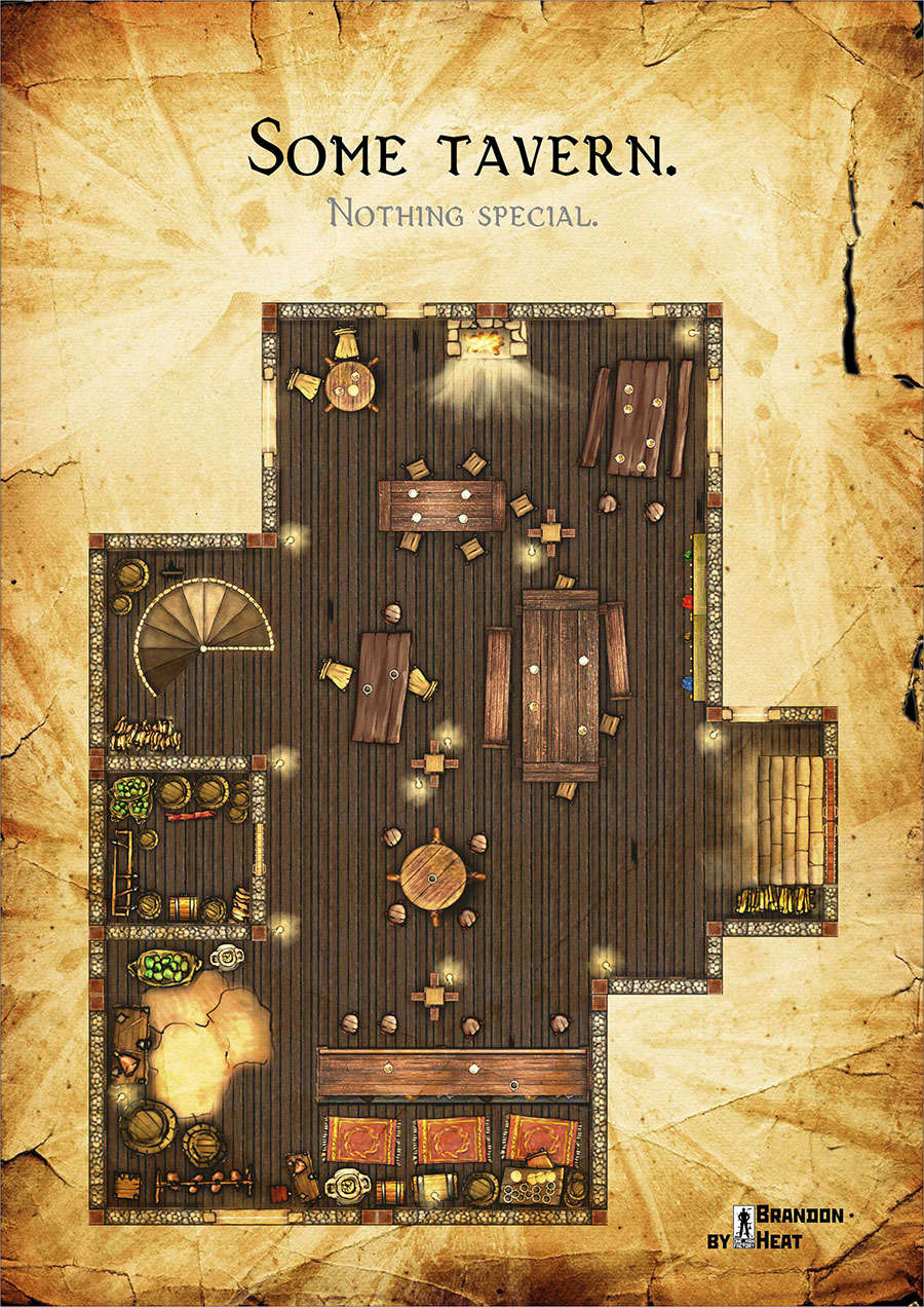 Tavern Map Dungeon Masters Guild Dungeon Masters Guild