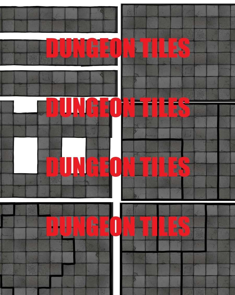 2D terrain, maps and props - Dungeon tiles - Dungeon Masters