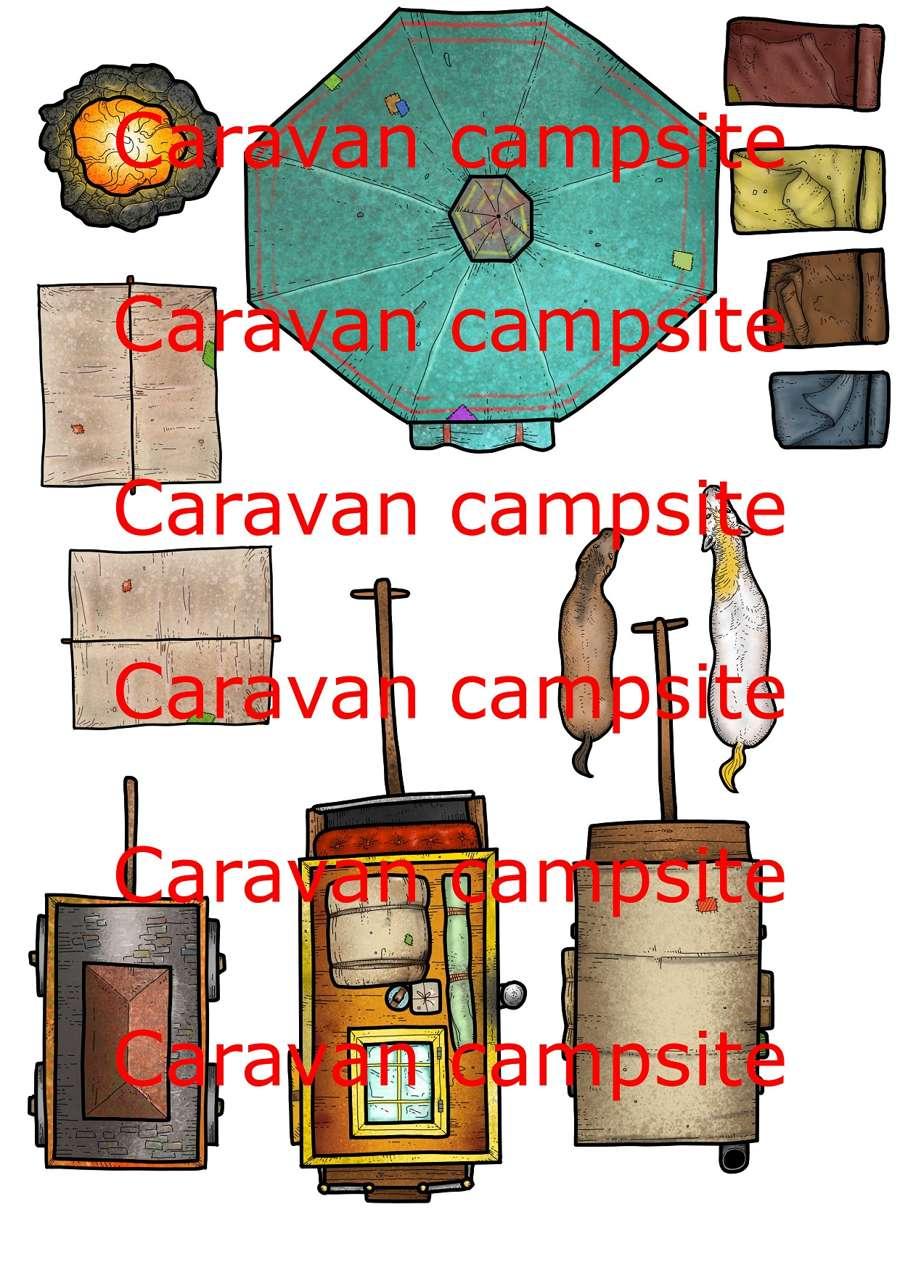 2D terrain, maps and props - Caravan campsite - Dungeon