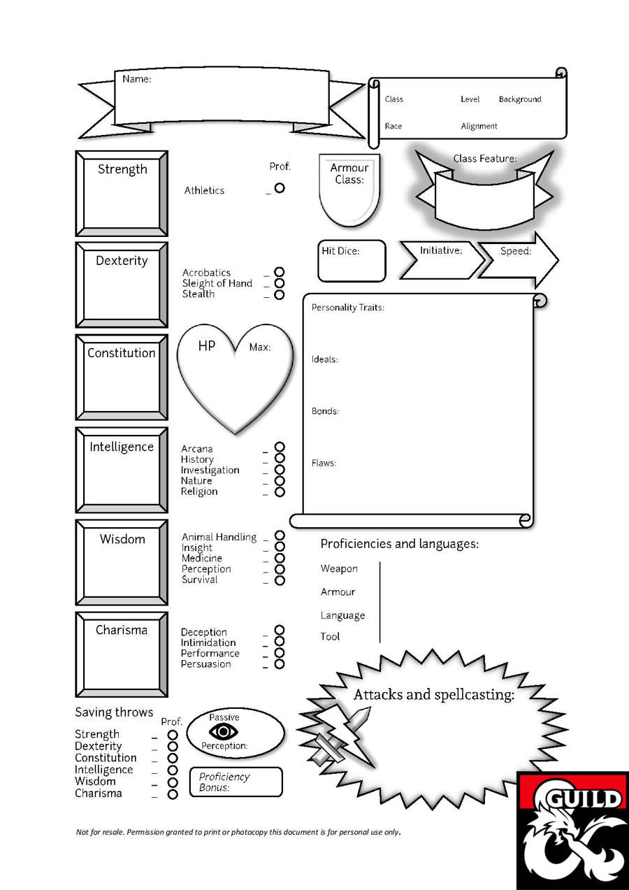 jon u0026 39 s fantastical custom character sheet for d u0026d 5e
