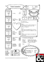 Faith, the Human Cleric (Pregenerated Character Sheet for D&D 5e, no art)