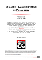 Le Guide - La Mine Perdue de Phancreux