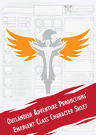 Emergent Class Character Sheet (Outlandish Adventure Productions)