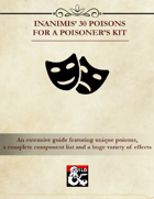Inanimis' 30 Poisons for a Poisoner's Kit