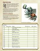 Artificer Character Class