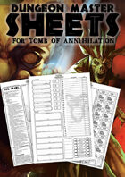 Dungeon Master Sheets for Tomb of Annihilation