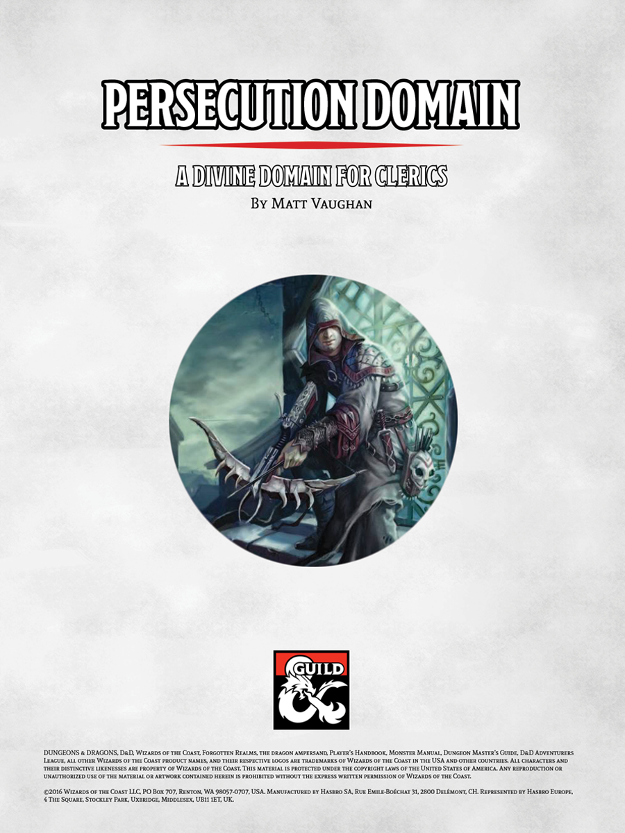 Cleric Persecution Domain - A 5e Divine Domain - Dungeon Masters Guild |  Dungeon Masters Guild