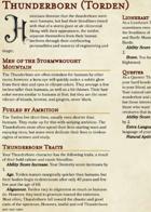 NEW Race: Thunderborn (Torden)