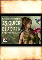 25 Quick Eladrin NPCs
