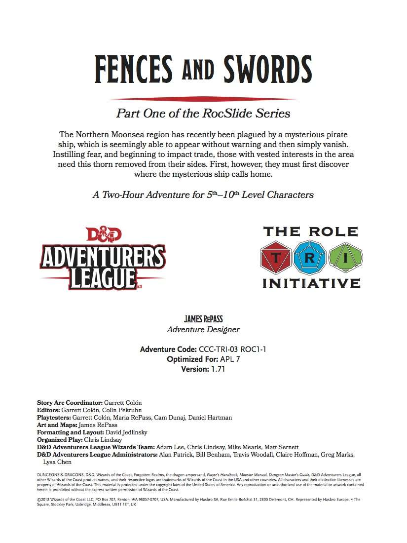 CCC-TRI-03 Fences and Swords by James RePass