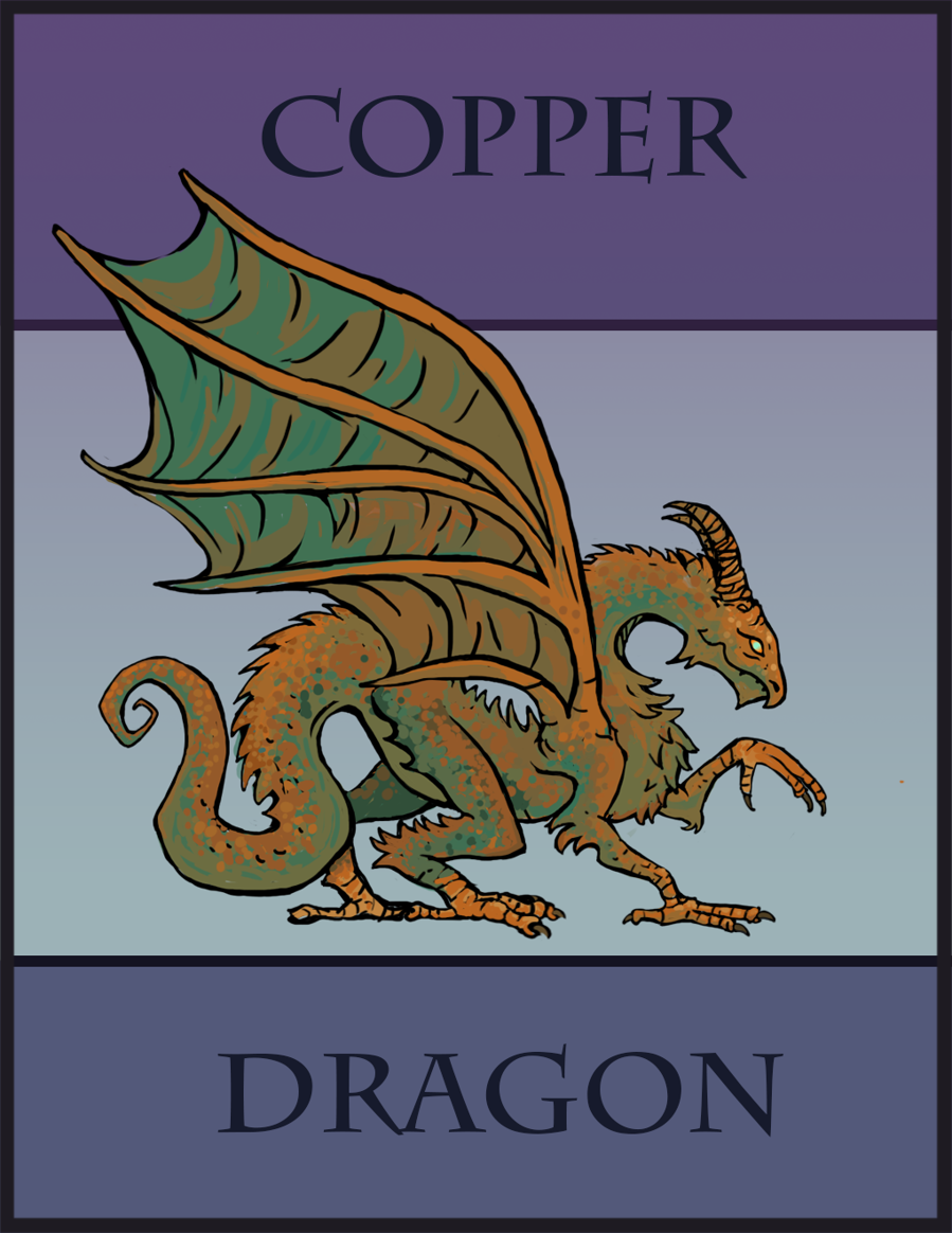 Copper Dragon Paper Miniature - Dungeon Masters Guild