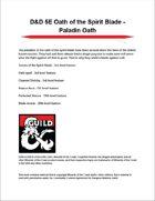 D&D 5E Oath of the Spirit Blade - Paladin Oath - Dungeon Masters Guild |  Dungeon Masters Guild
