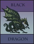 Black Dragon Paper Miniature