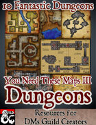 You Need These Maps IV - Dungeons - Stock Art