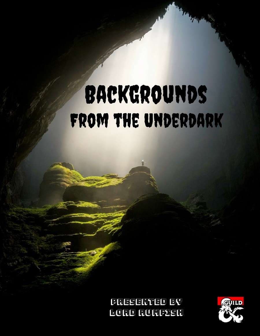 Backgrounds from the Underdark cover