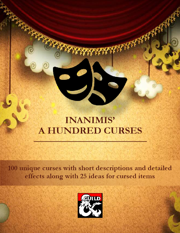 Inanimis' A Hundred Curses - Dungeon Masters Guild | Dungeon Masters Guild