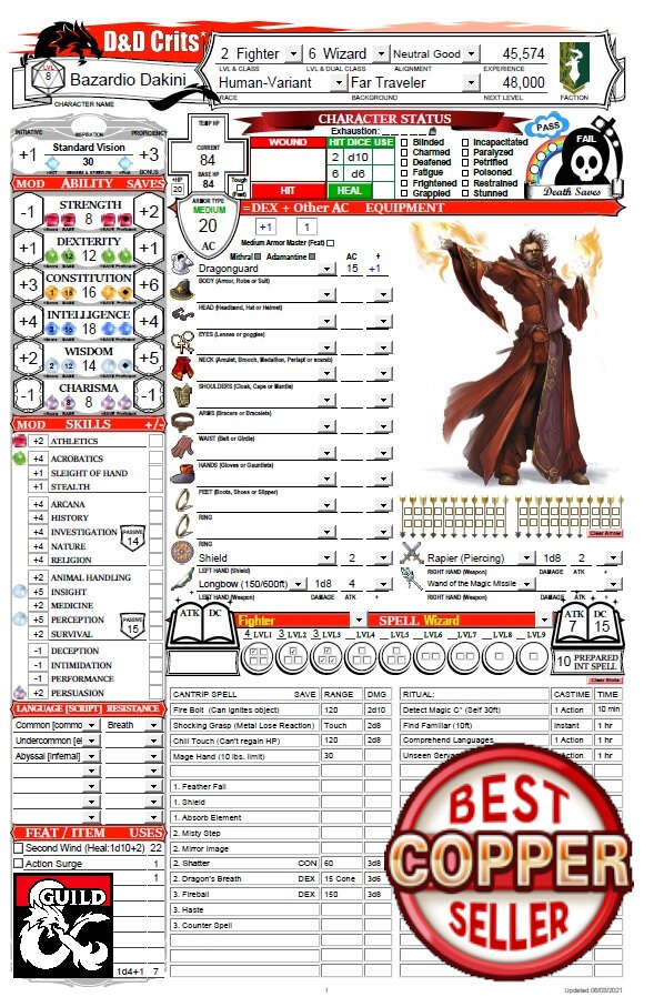Remarkable image within d&d printable character sheet