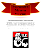 Mortimer's Monster Museum