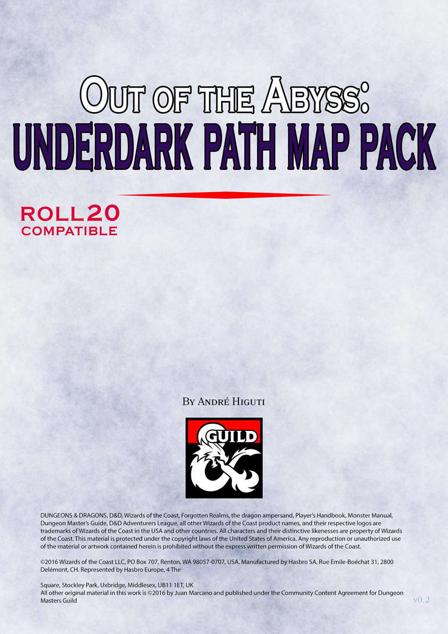 Out of The Abyss: Underdark Path Map Pack vol 01 - Dungeon Masters Guild |  DriveThruCards com