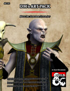 ART951 Male Orc Sorceror Stock Art