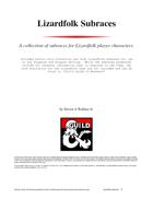 Lizardfolk Subraces
