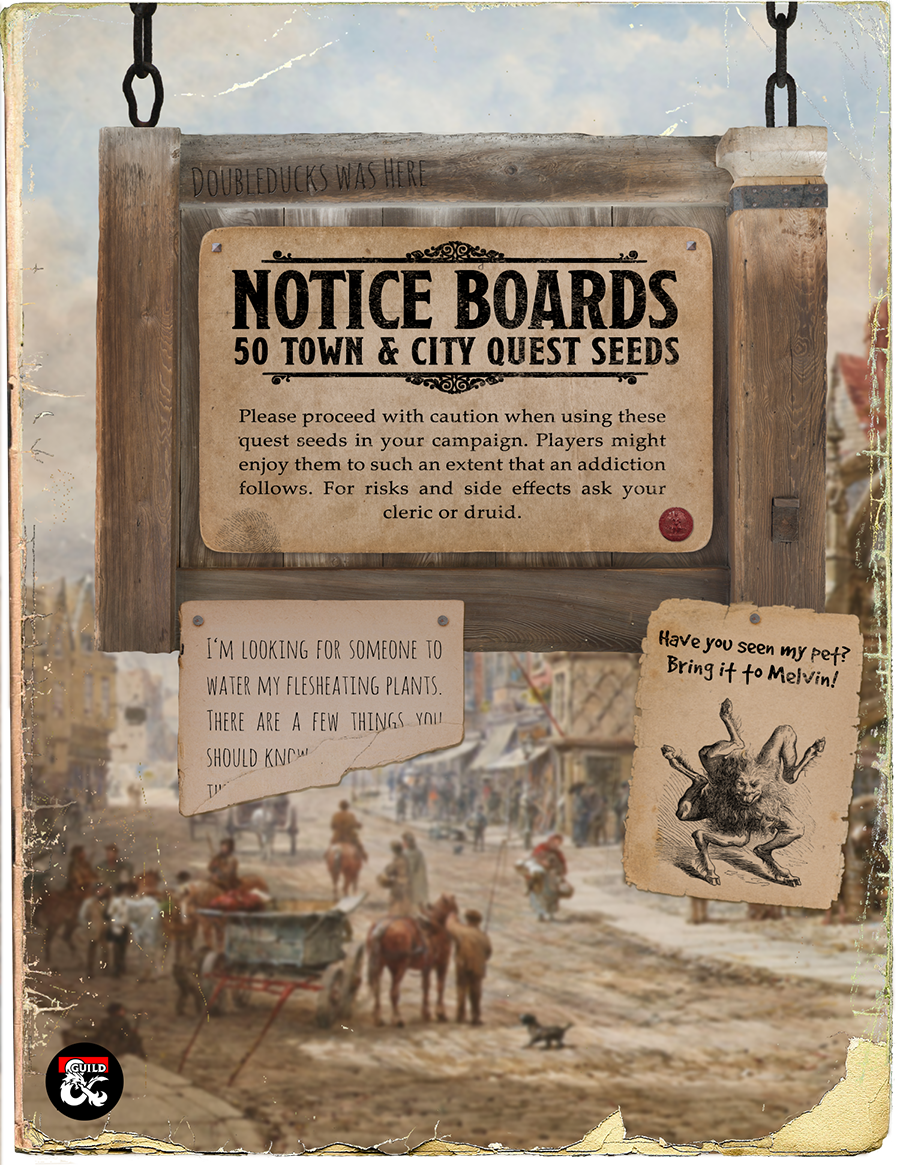 Notice Board: 50 Quests for Towns and Cities - Dungeon Masters Guild ...