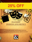 Inanimis' 60 Poisons and Restaurant Menus Bundle