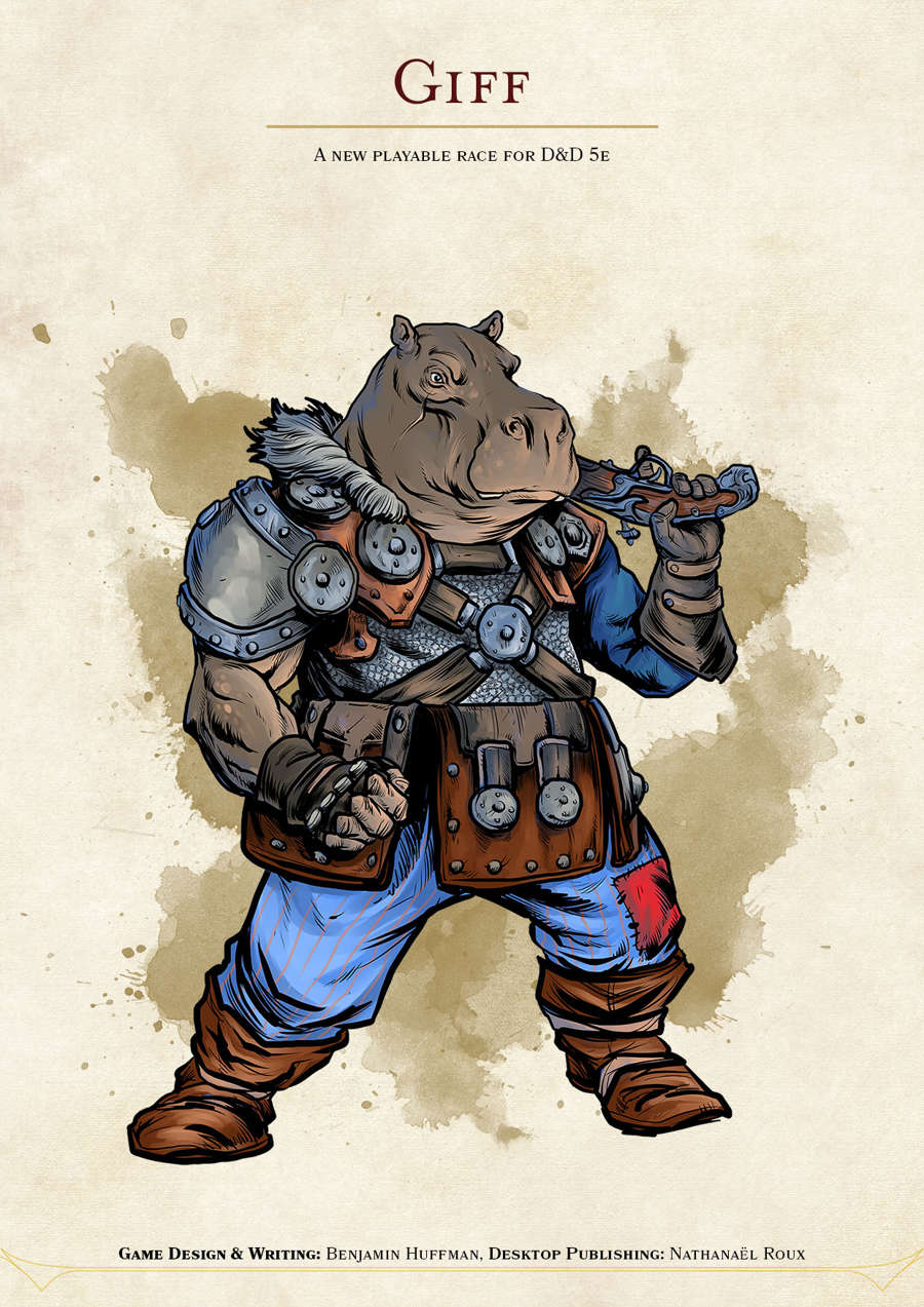 Giff, a New Playable Race for D&D 5e - Dungeon Masters Guild