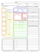 Color Block Character Sheet - Form Fillable