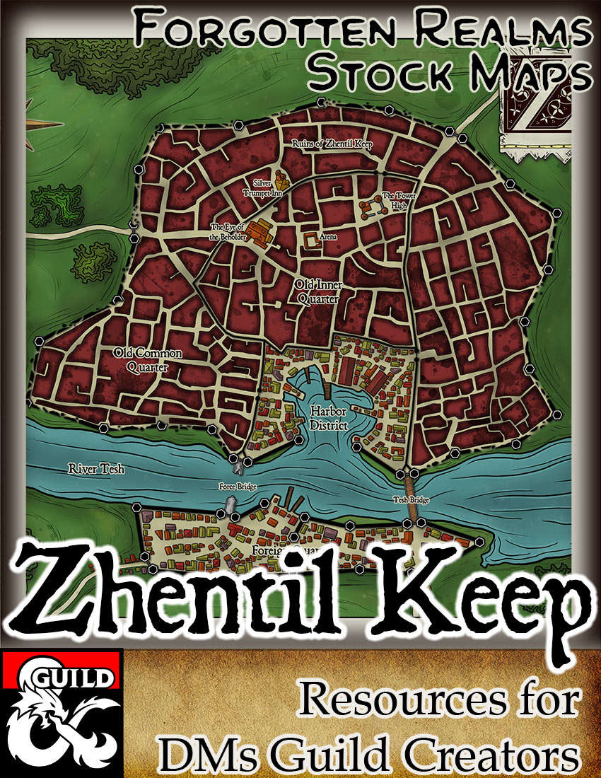 Zhentil Keep - Forgotten Realms Stock Maps - Dungeon Masters Guild |  Dungeon Masters Guild