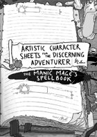 Artistic Character Sheet for the Discerning Adventurer (Wizard pg.3)