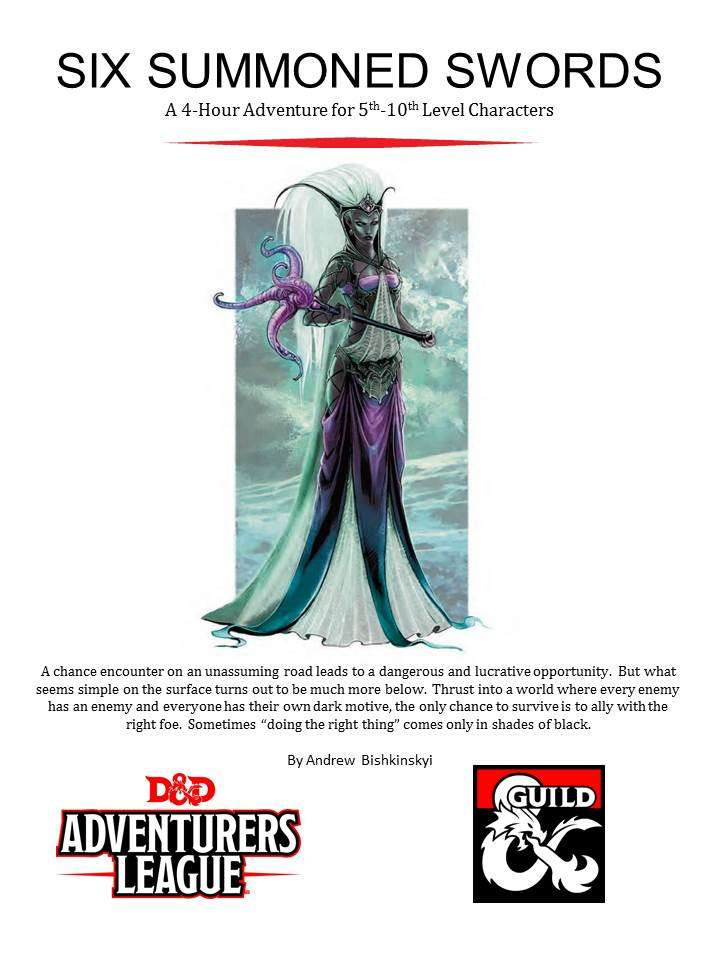 CCC-PHA-01 Six Summoned Swords - Dungeon Masters Guild | Dungeon