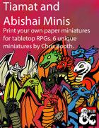 Tiamat and Abishai Minis