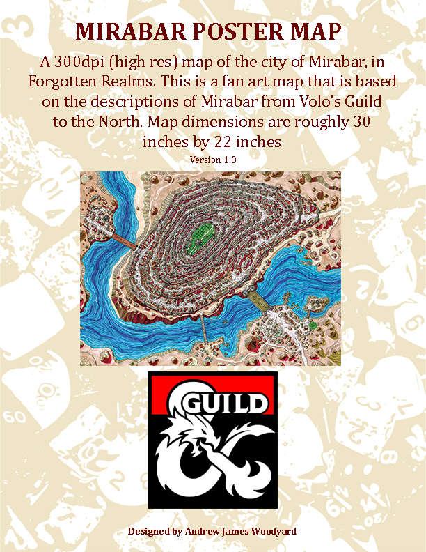Mirabar Poster Map - Dungeon Masters Guild | DriveThruRPG com