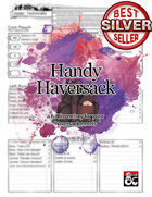 Handy Haversack Inventory Sheet