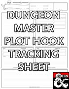Dungeon Master Plot Hook Tracking Sheet