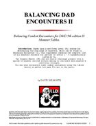 Balancing D&D Encounters II: Monster Tables
