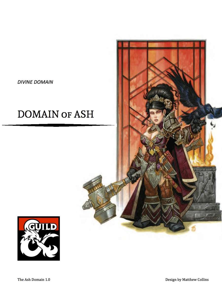 The Ash Domain - Cleric Divine Domain - Dungeon Masters Guild